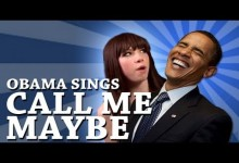 Obama zpiva Call Me Maybe