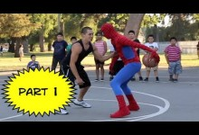 Spiderman hraje basketbal